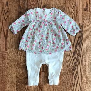 Gap 0-3 Months Floral One Piece Outfit